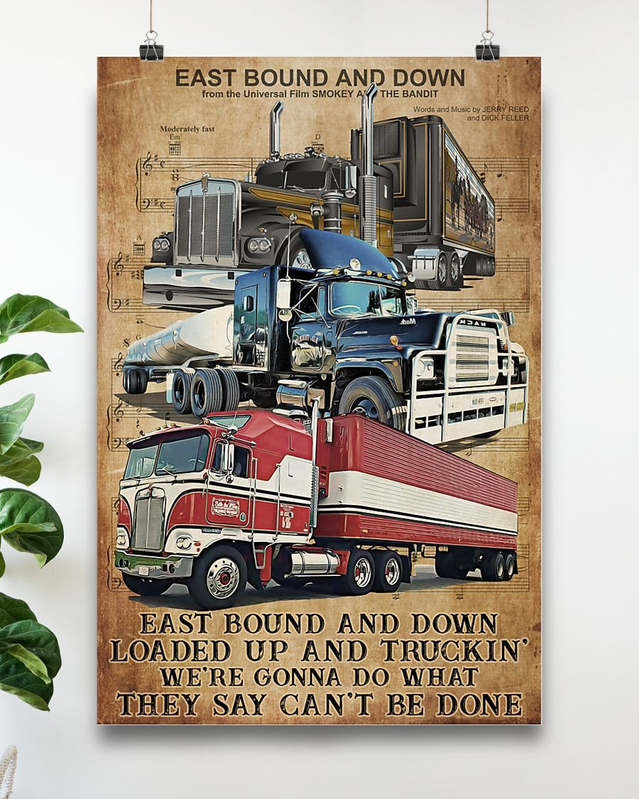Trucker east bound and down poster 1