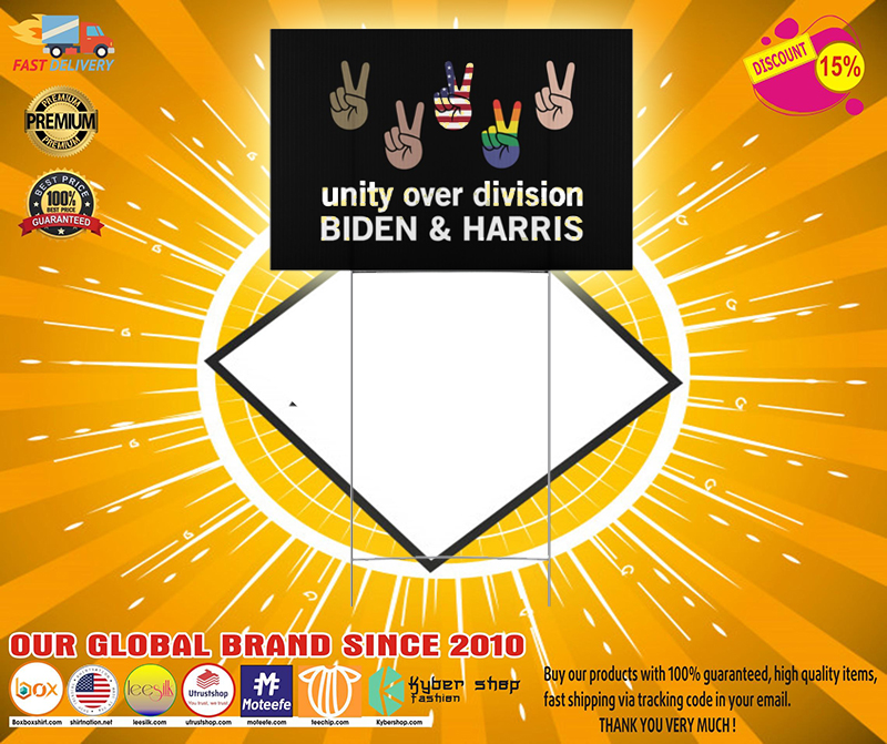 Unity over division Biden and harris Yard Sign 1