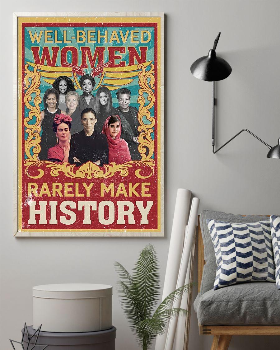 Well behaved women rarely make history Ruth Bader Ginsburg poster 3