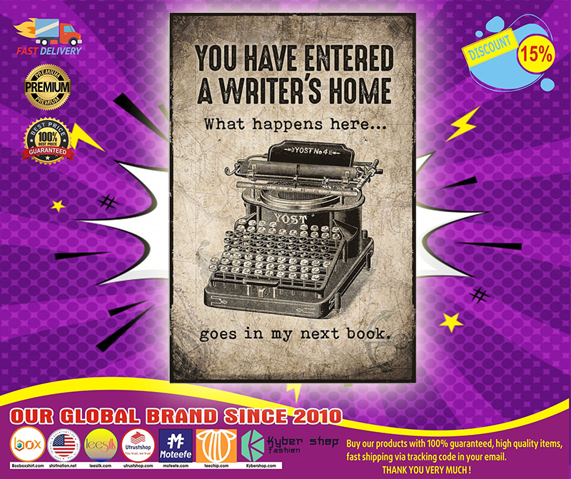 You have entered a writer's home poster 4