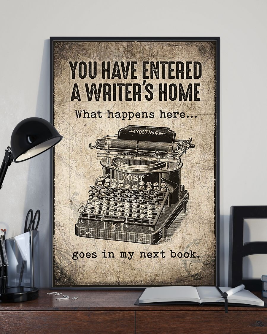 You have entered a writer's home poster 2