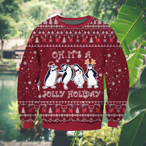 Oh it's a Jolly holiday knitting sweater 5