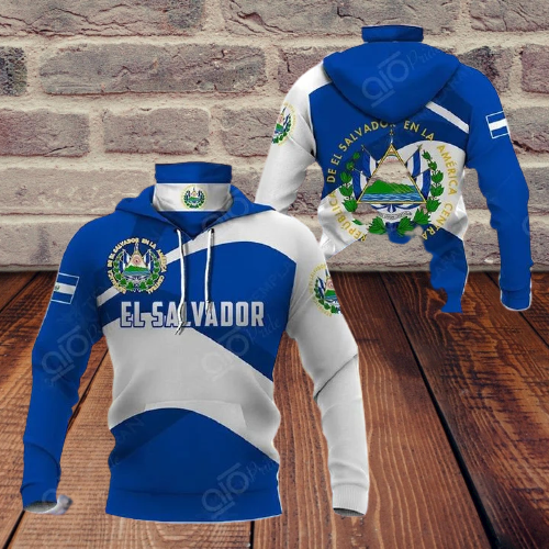 El salvador 3d full print hoodie