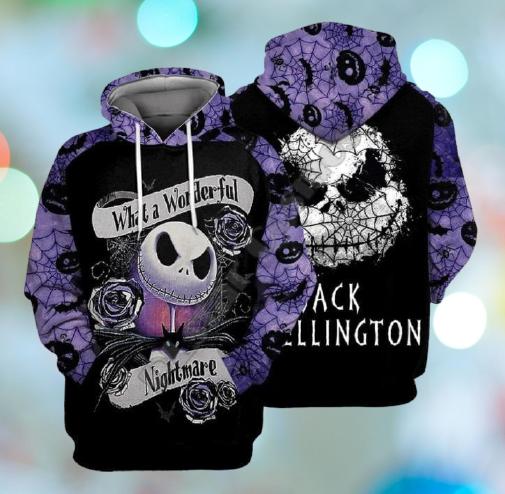 Jack Skellington what a wonderful nightmare 3d hoodie 5