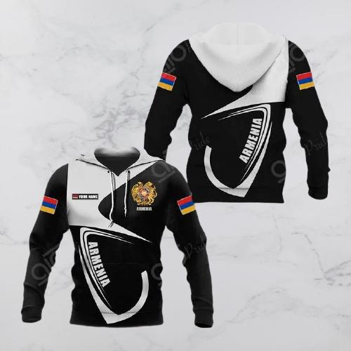 Armenia coat of arms custom name 3d hoodie