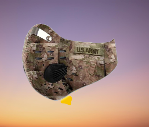 US army camo filter carbon face mask