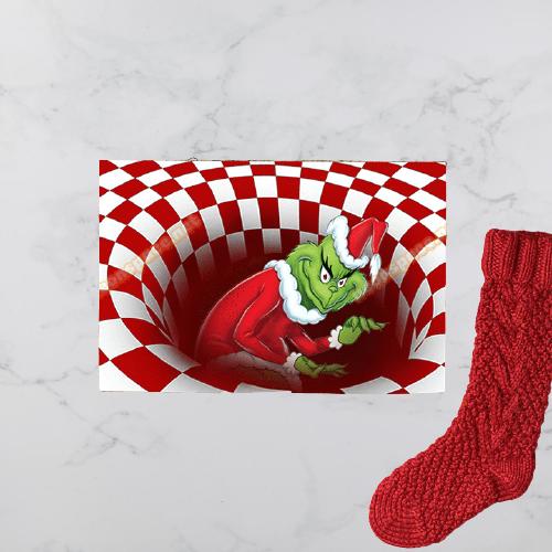 Grinch illusion doormat