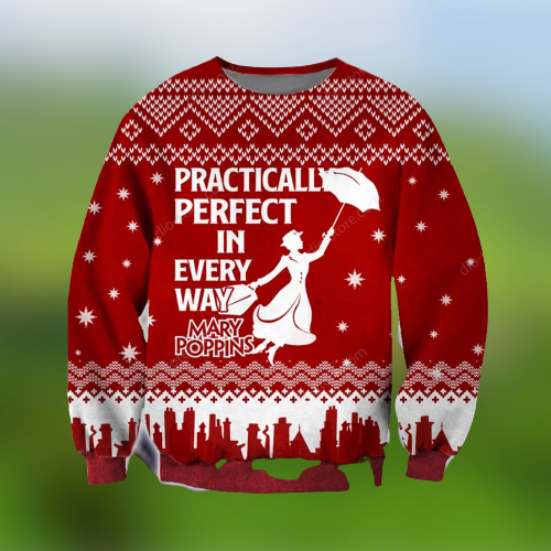 MARY POPPINS PRACTICALLY PERFECT IN EVERY WAY UGLY CHRISTMAS SWEATER