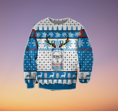 BUSCH BEER UGLY CHRISTMAS SWEATER 9