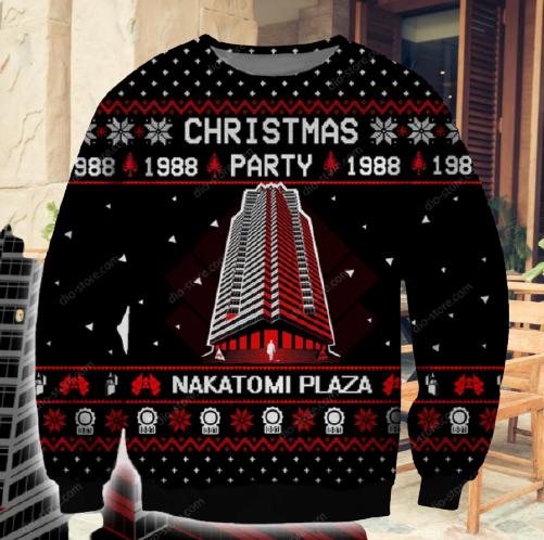 CHRISTMAS PARTY 1988 NAKATOMI PLAZA UGLY CHRISTMAS SWEATER