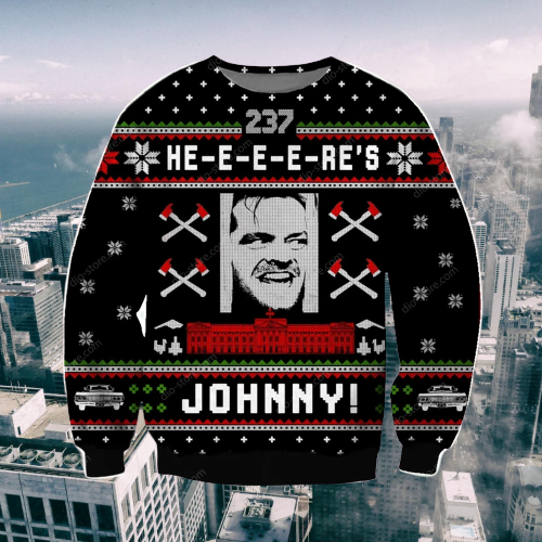 HERE'S JOHNNY UGLY CHRISTMAS SWEATER