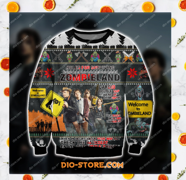 ZOMBIELAND COMEDY FILM UGLY CHRISTMAS SWEATER