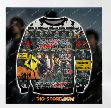 ZOMBIELAND COMEDY FILM UGLY CHRISTMAS SWEATER 7