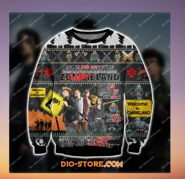 ZOMBIELAND COMEDY FILM UGLY CHRISTMAS SWEATER 5