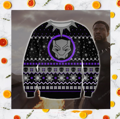 BLACK PANTHER UGLY CHRISTMAS SWEATER