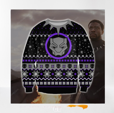 BLACK PANTHER UGLY CHRISTMAS SWEATER 7