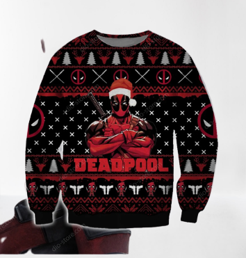 DEADPOOL UGLY CHRISTMAS SWEATER 7