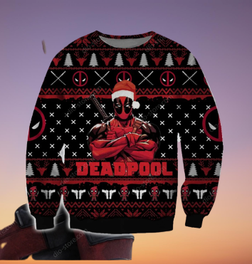 DEADPOOL UGLY CHRISTMAS SWEATER 5