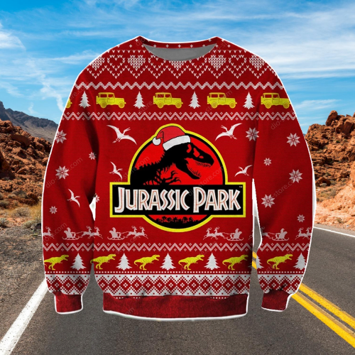 JURASSIC PARK UGLY CHRISTMAS SWEATER