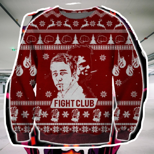 FIGHT CLUB UGLY CHRISTMAS SWEATER