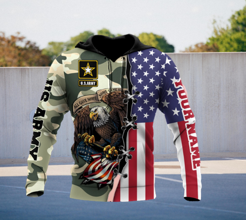 US Army Veteran 3D Personalized All Over Printed Hoodie 5