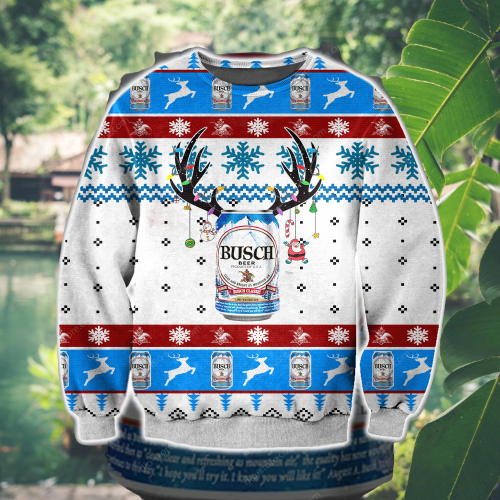 BUSCH BEER UGLY CHRISTMAS SWEATER