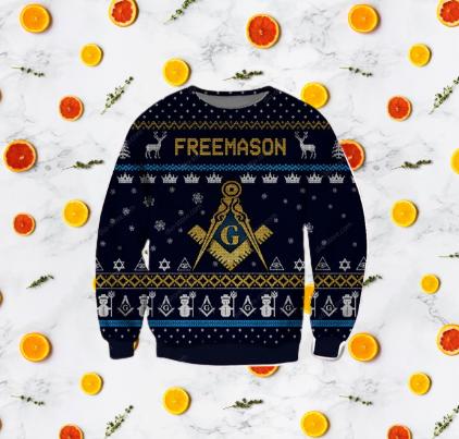 FREEMASON UGLY CHRISTMAS SWEATER 7