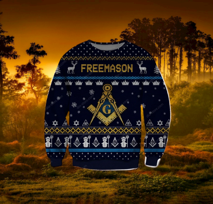 FREEMASON UGLY CHRISTMAS SWEATER 5