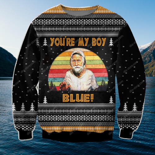 OLD SCHOOL PATRICK CRANSHAW YOU'RE MY BOY BLUE UGLY CHRISTMAS SWEATER 5