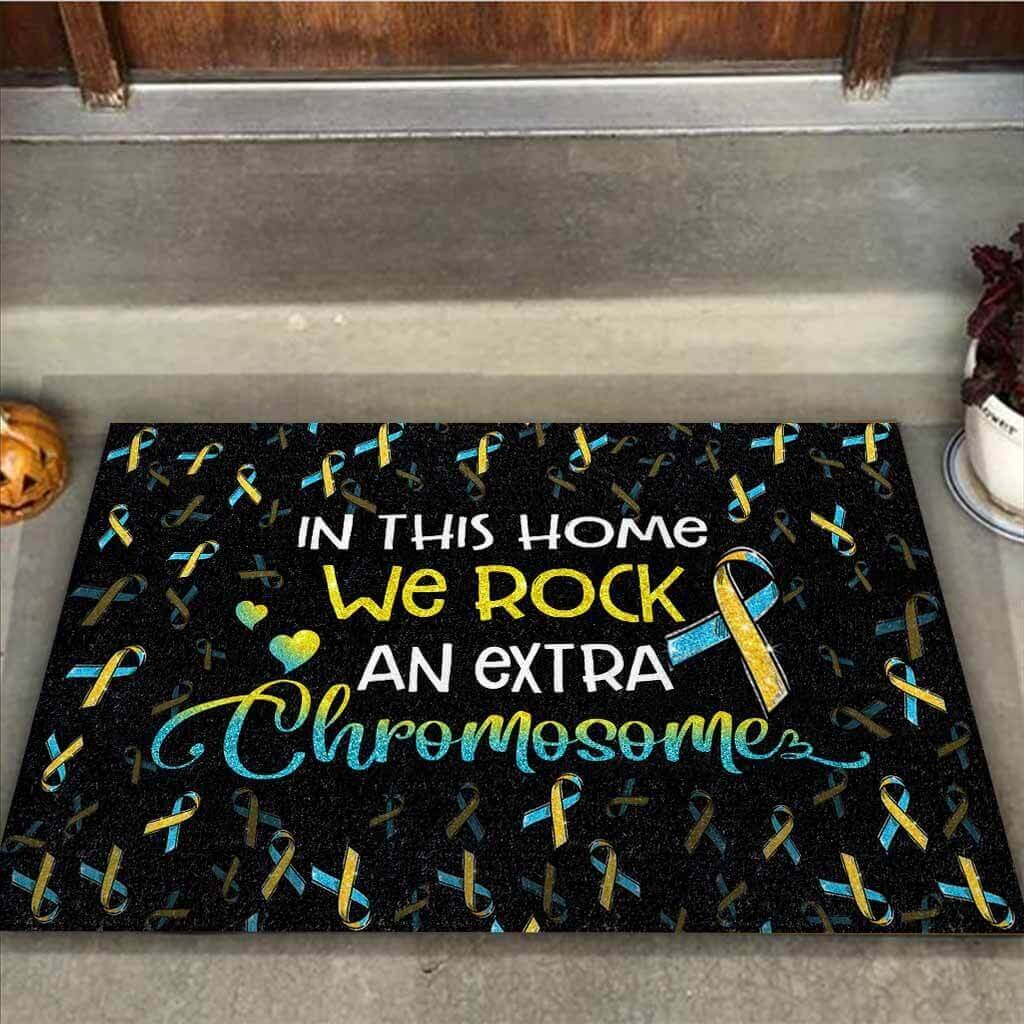In this home we rock an extra chromosome doormat 1