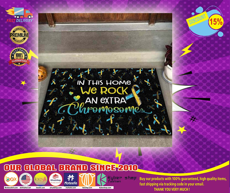 In this home we rock an extra chromosome doormat 2