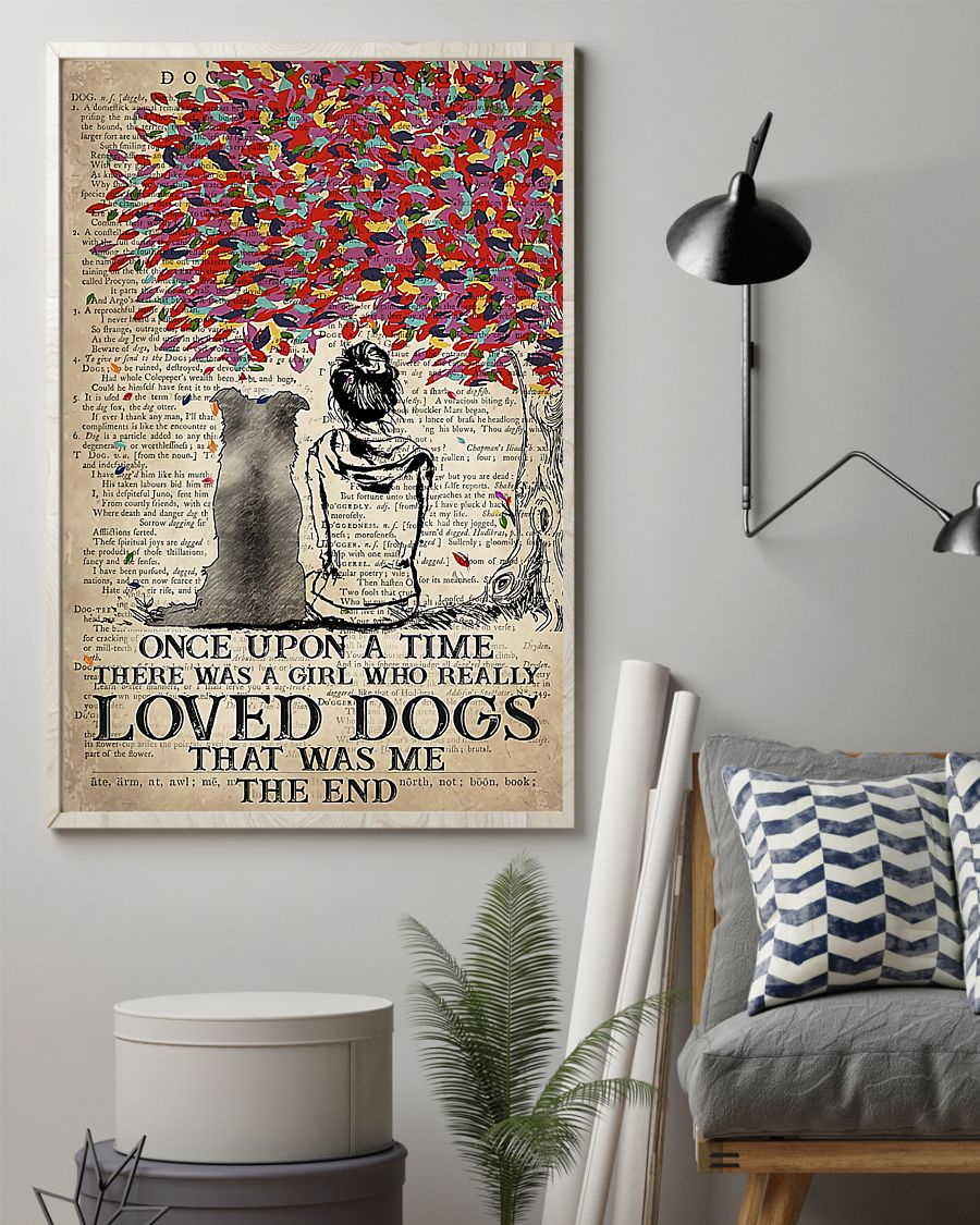 Border dog once upon a time there was a girl who really loved dogs poster 7