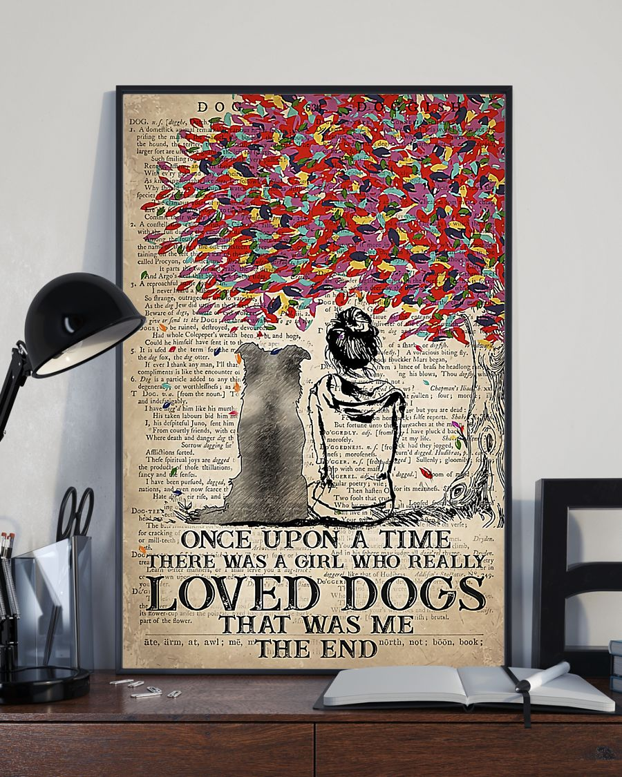 Border dog once upon a time there was a girl who really loved dogs poster 5