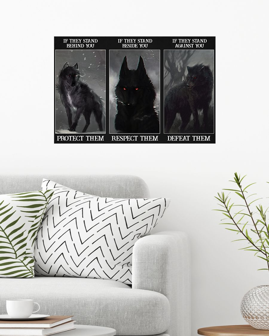 Wolf if they stand behind you protect them poster 7