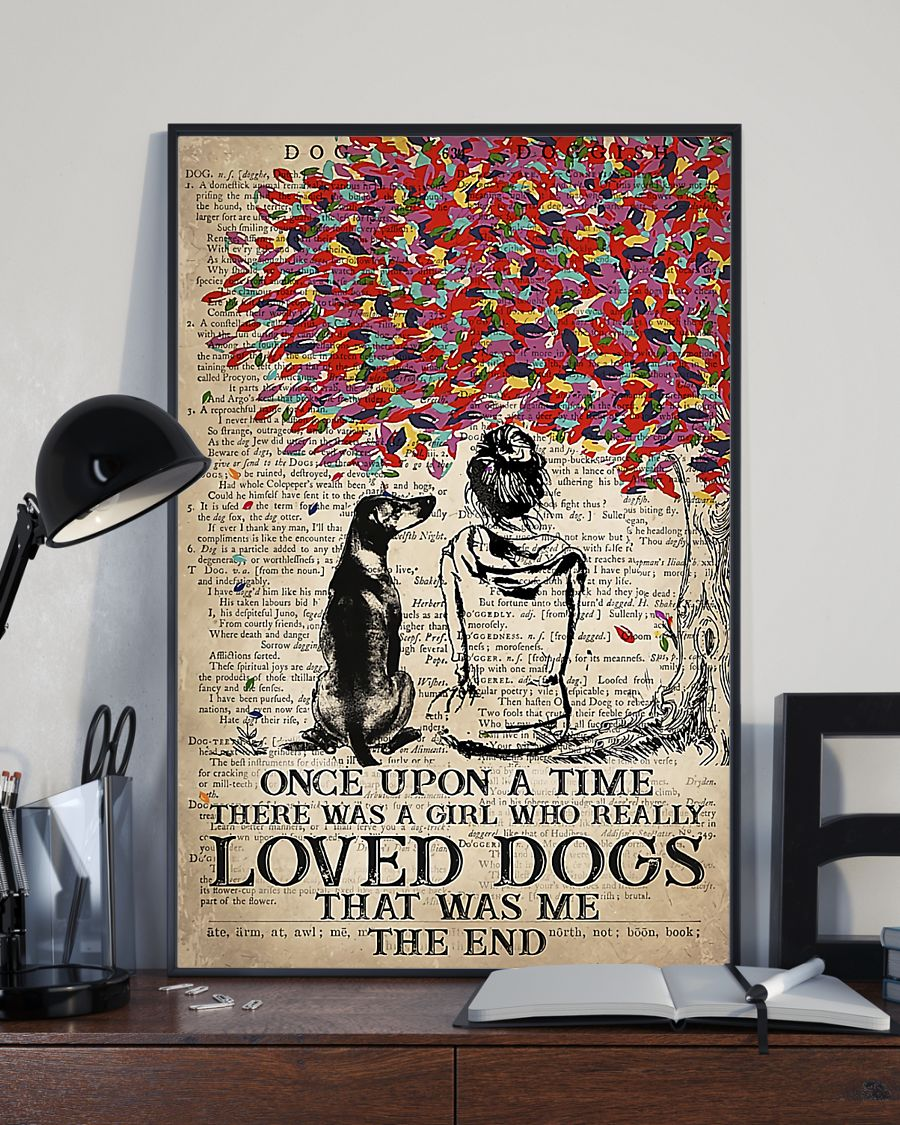 Rhodesian dog once upon a time there was a girl who really loved dogs poster 5