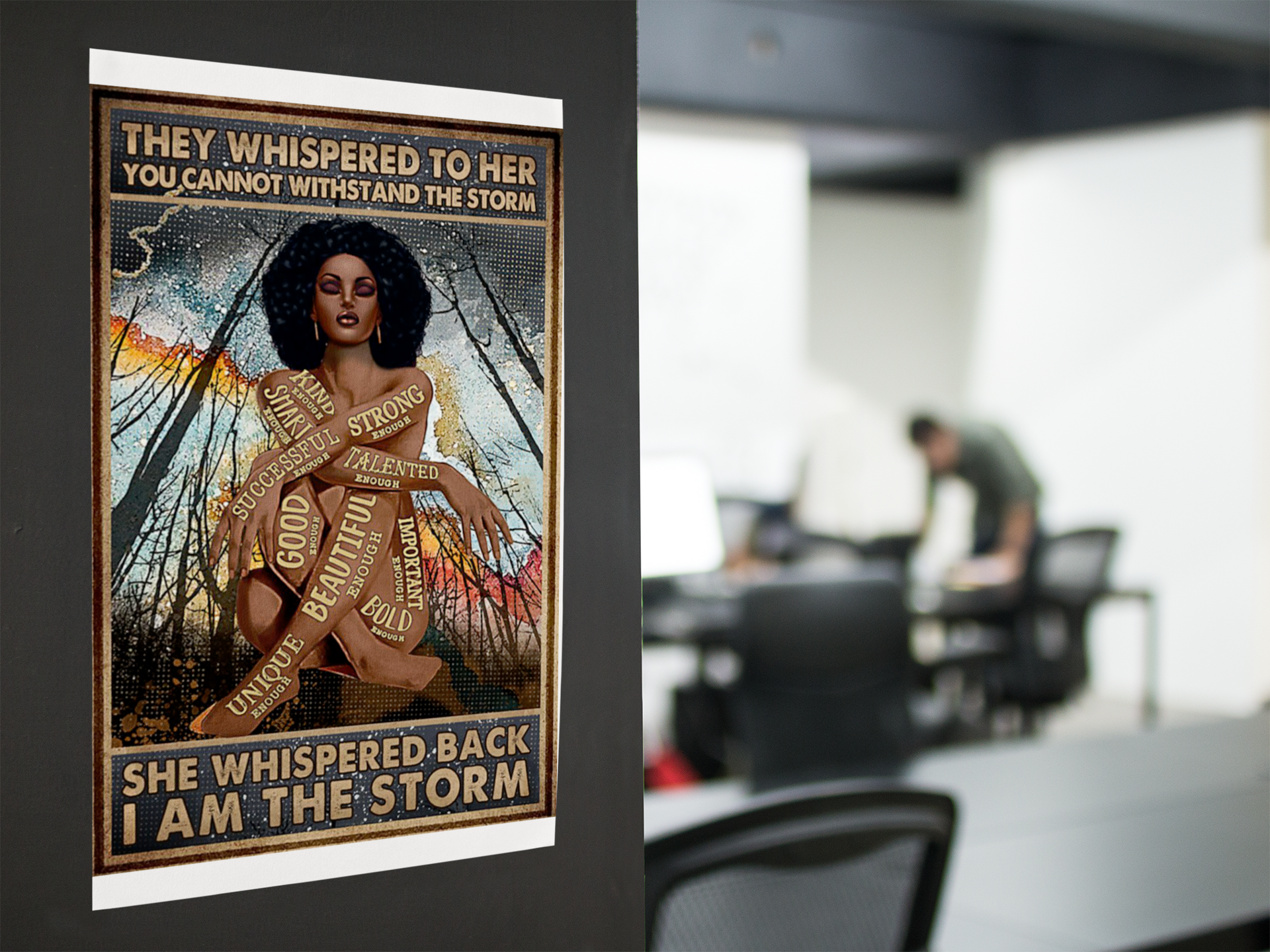 Africa Black girl They whispered to her you cannot withstand the storm poster 2