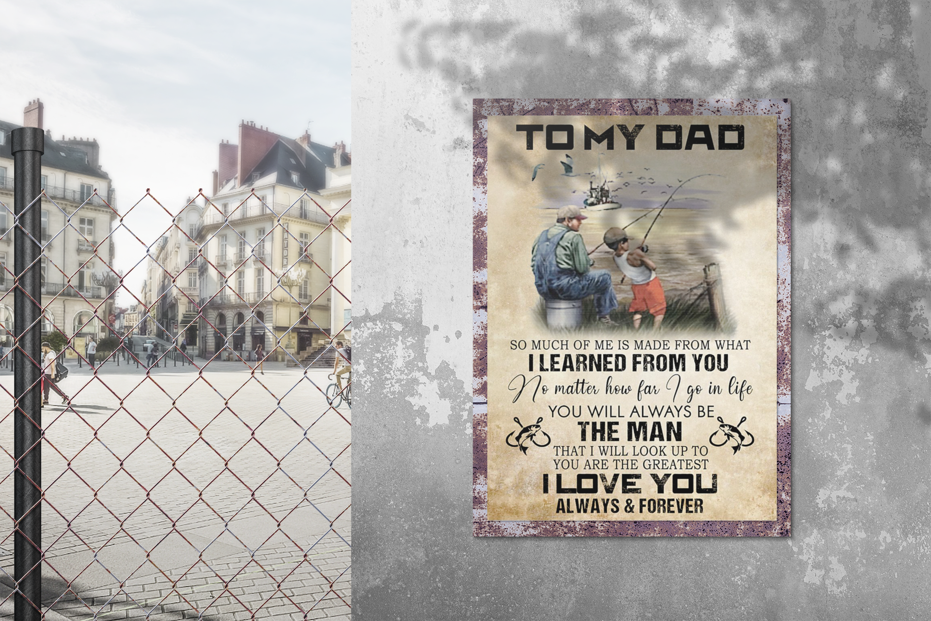 Fishing to my dad I learned from you poster 3