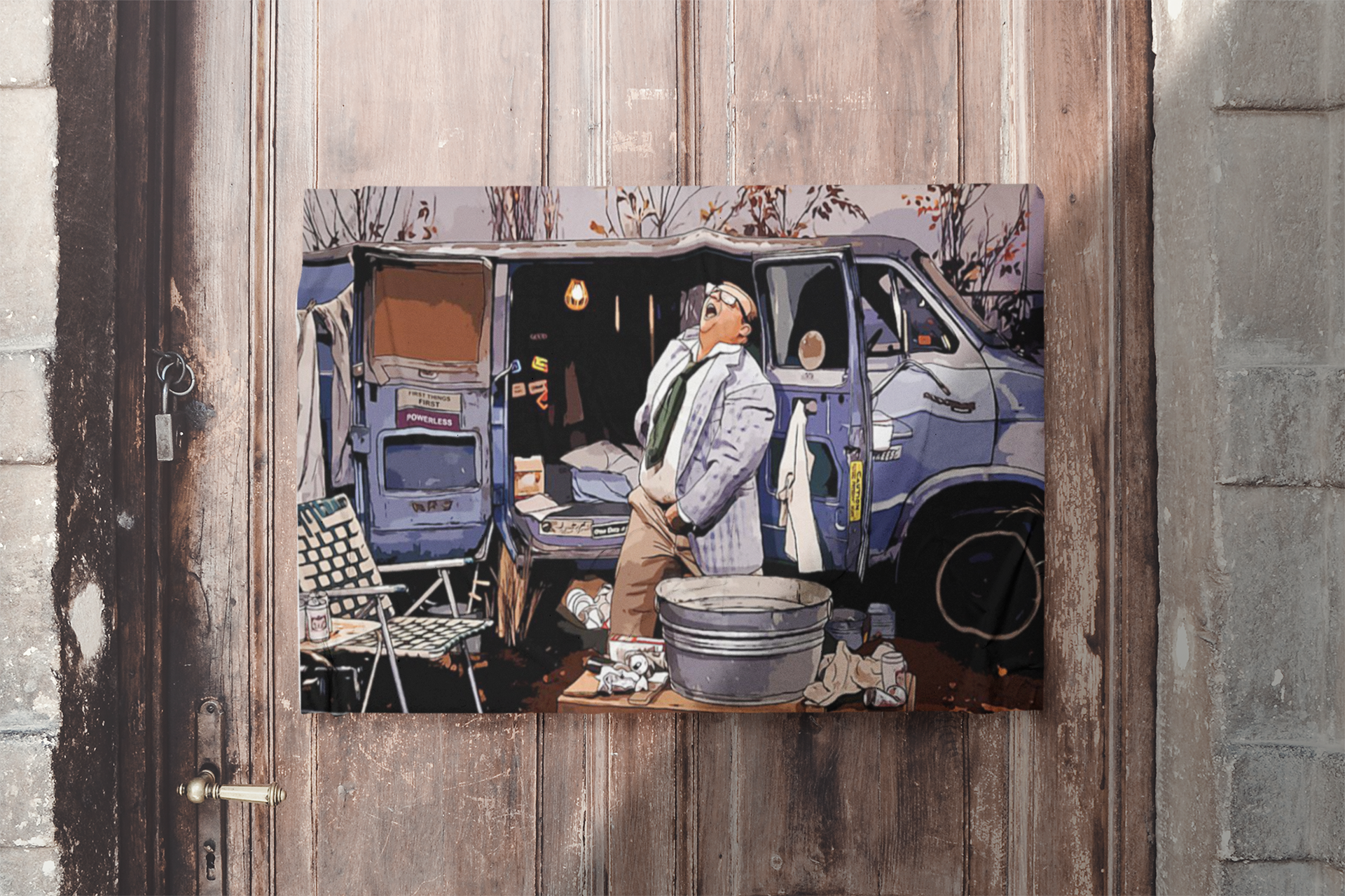 Matt Foley Living in the van down by the river poster 1
