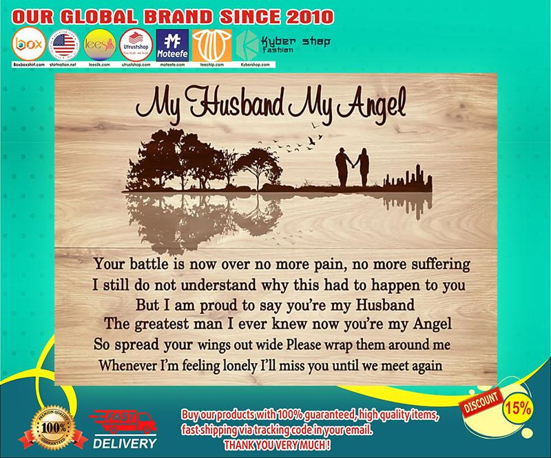 My husband my angel lyric poster