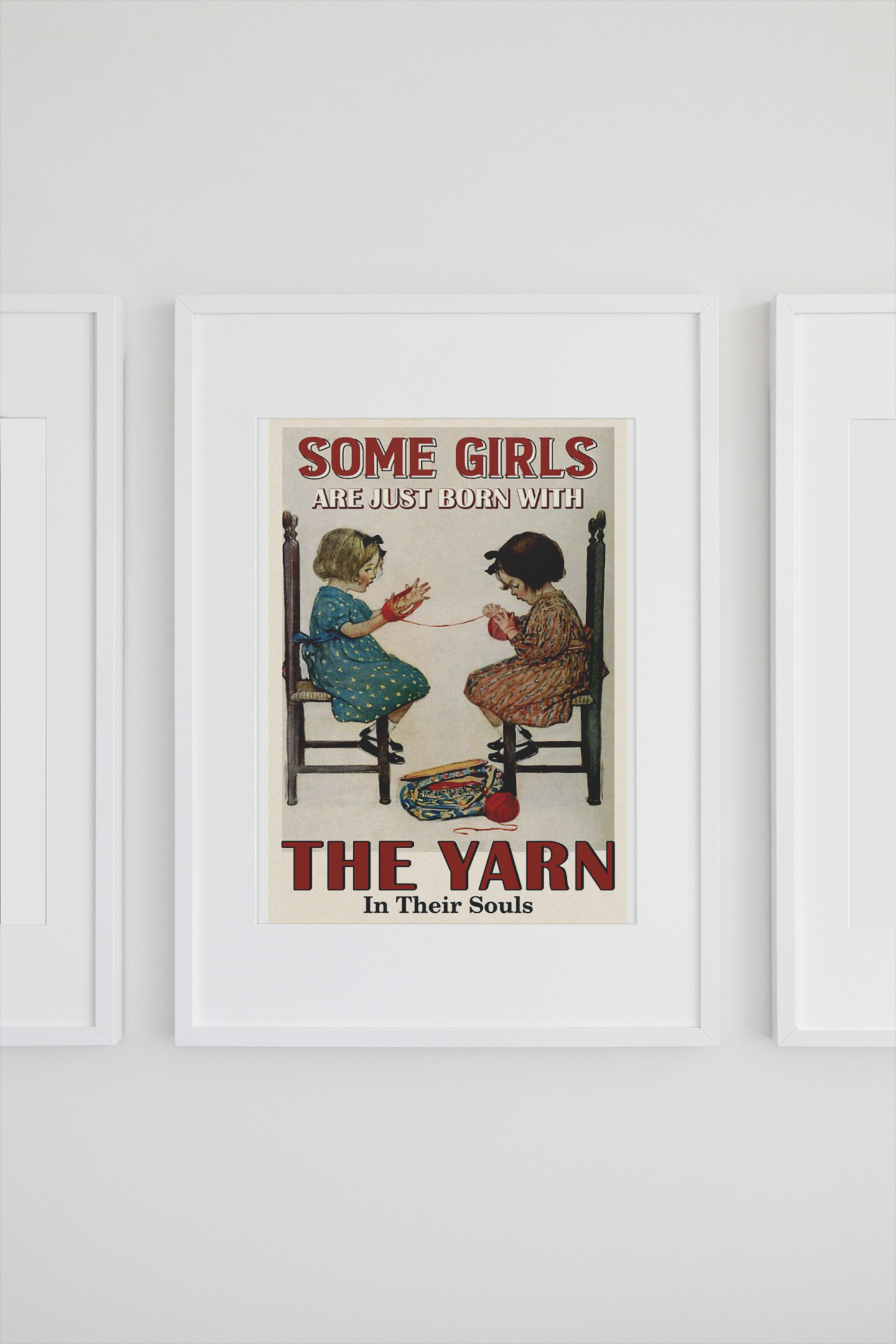 Some girls are just born with the yarn in their souls poster 14