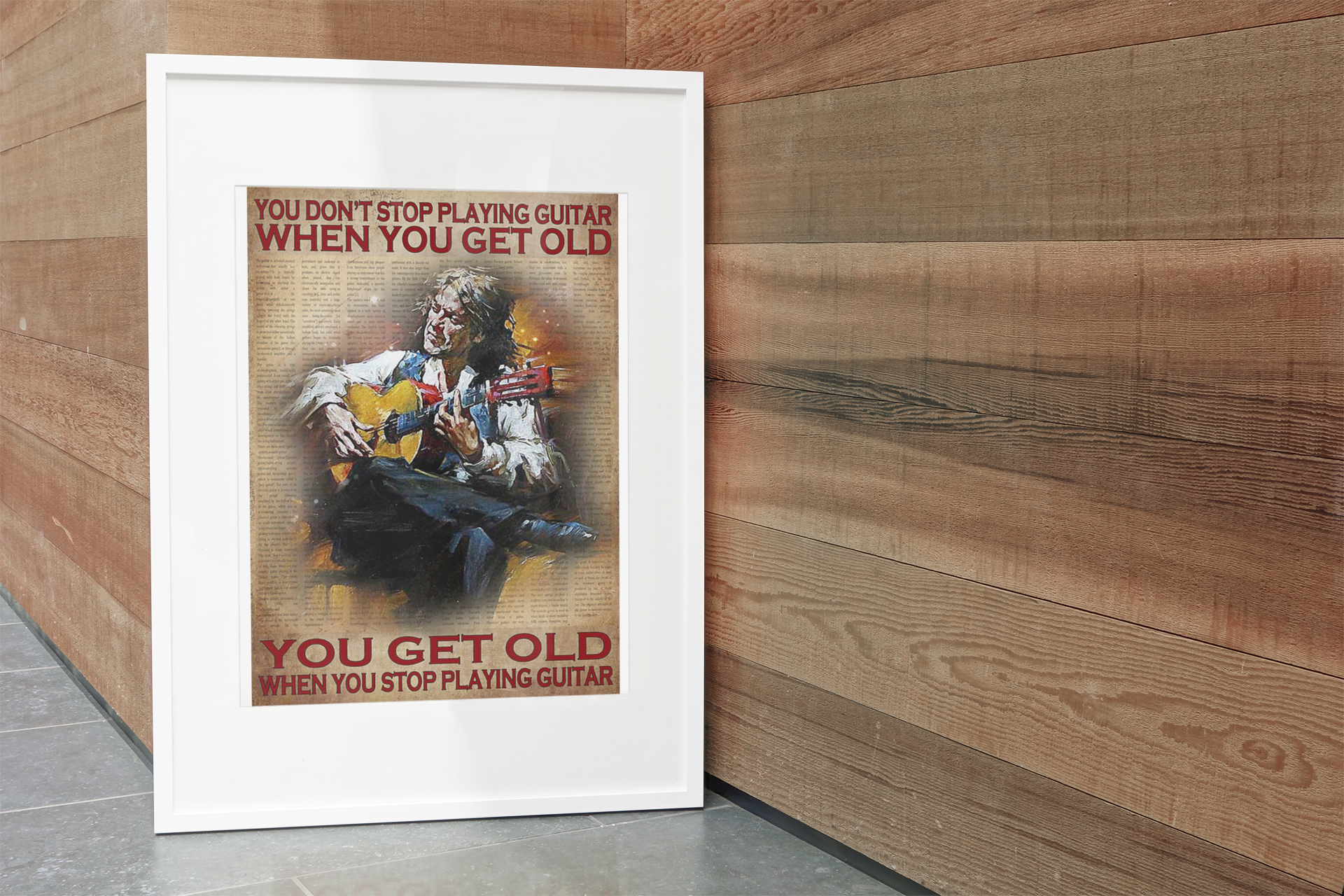You don't stop playing guitar when you get old you get old when you stop playing guitar poster 3