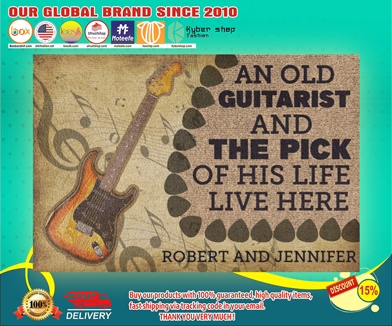 An old guitarist and the pick of his life live here doormat 19