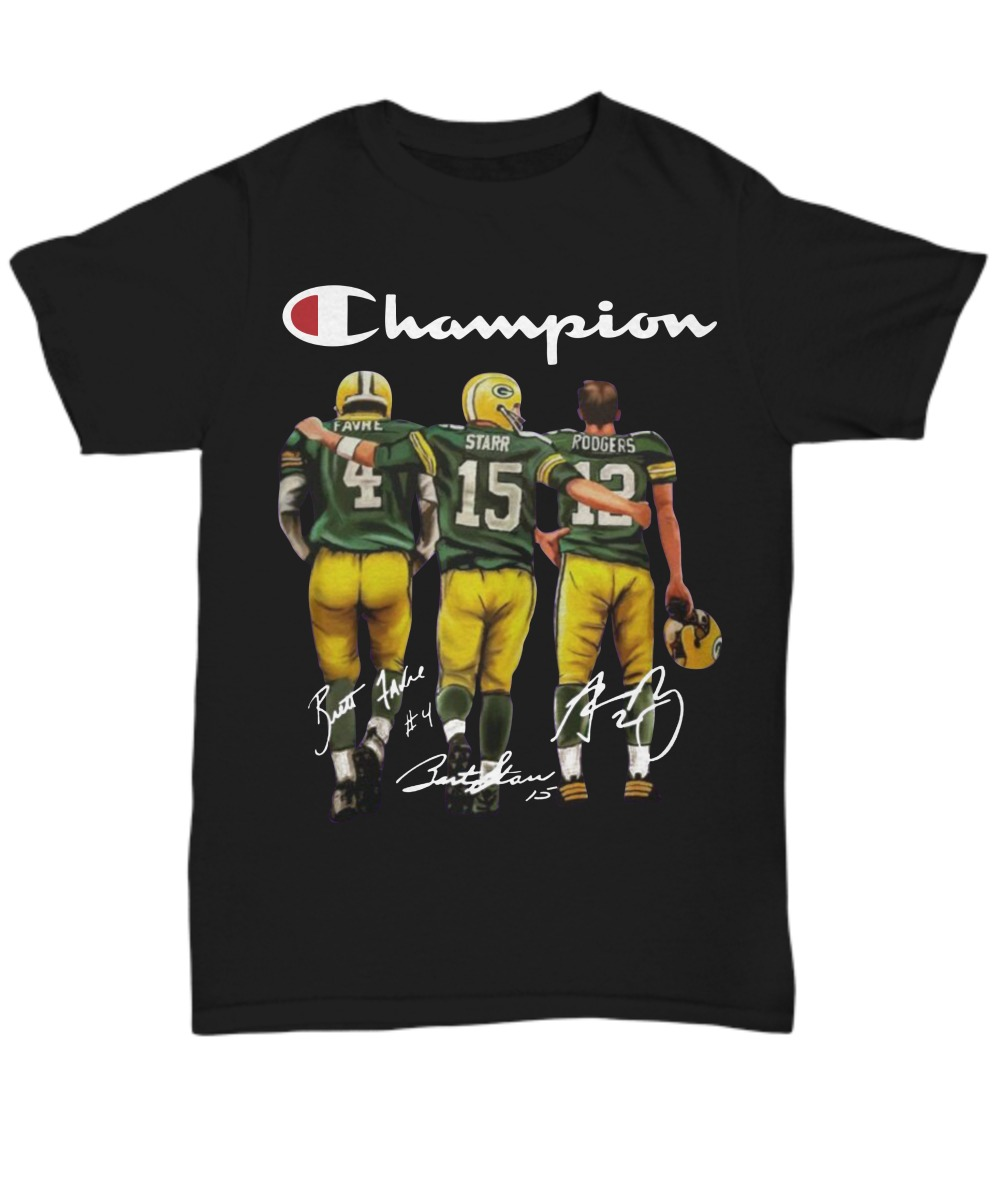 Champion Green Bay Packers favre starr rodgers shirt 21