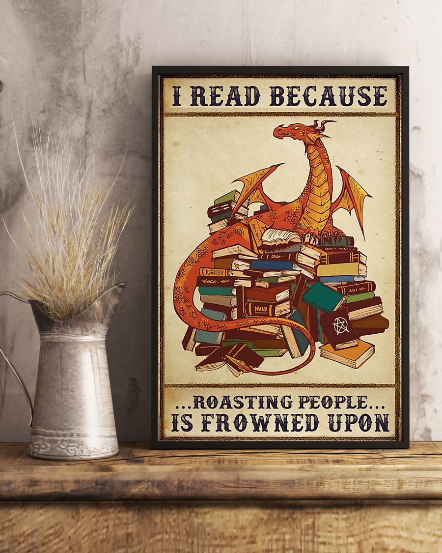 Dragon I read because roasting people is frowned upon poster 21
