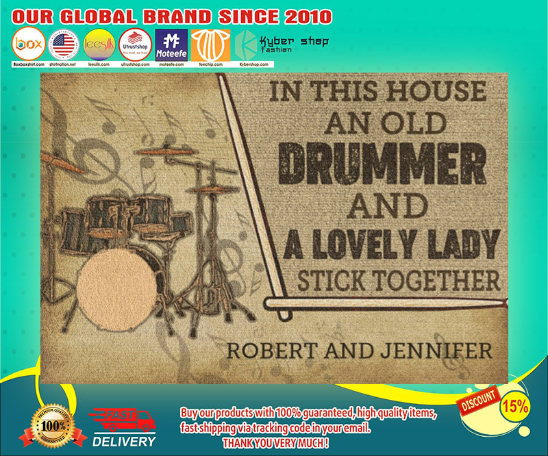 Drummer and a lovely lady doormat 19