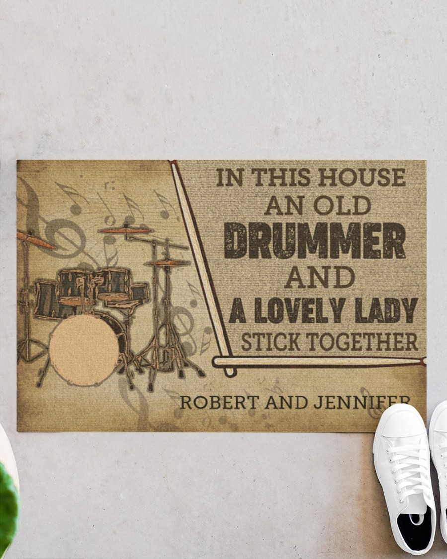 Drummer and a lovely lady doormat 21