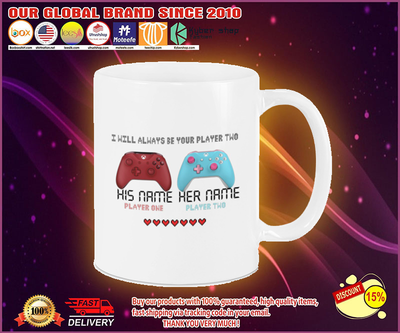 Game controller I will always be your player two mug 19