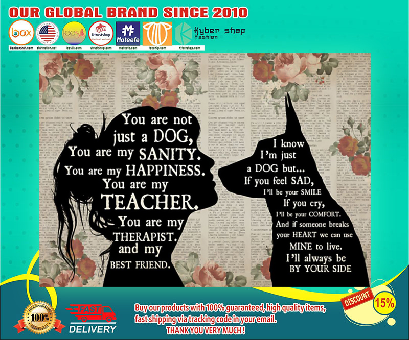 German shepherd girl therapist you are not just a cat best friend poster 19