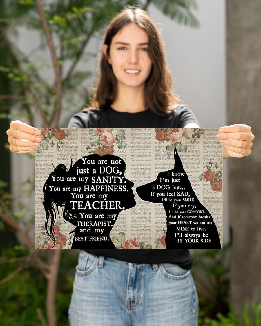German shepherd girl therapist you are not just a cat best friend poster 21