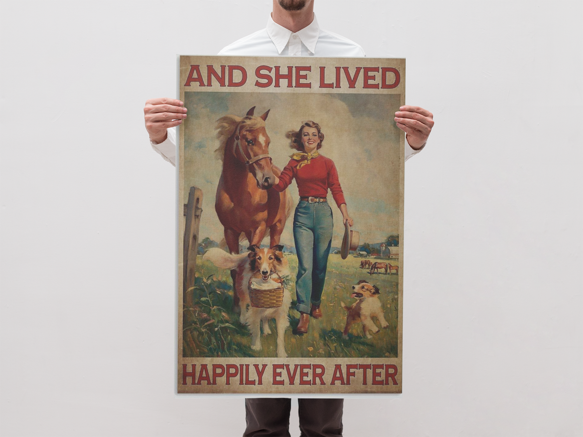 Girl with horse and dog and she lived happily ever after poster 21